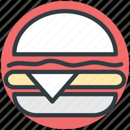 burger, fast food, hamburger, junk food icon