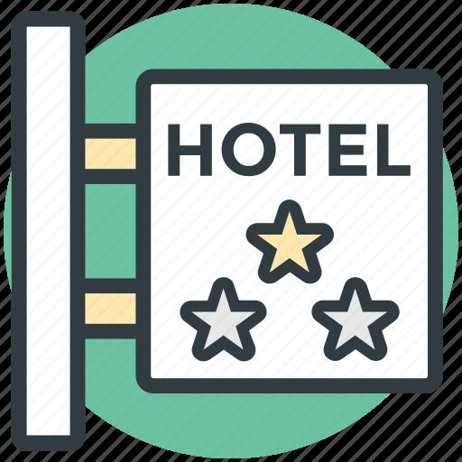 hotel info, hotel sign, hotel sign board, luxury hotel, three star hotel icon