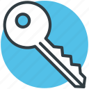 door key, key, lock key, room key, security icon