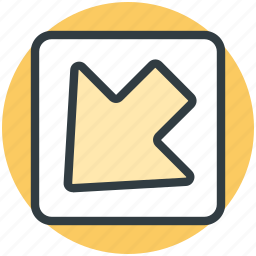 arrow, direction arrow, down arrow, navigation arrow, pointing arrow icon