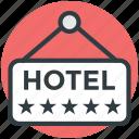 five star hotel, hotel info, hotel sign, hotel sign board, luxury hotel icon