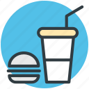 burger, drink, fast food, food, junk food icon