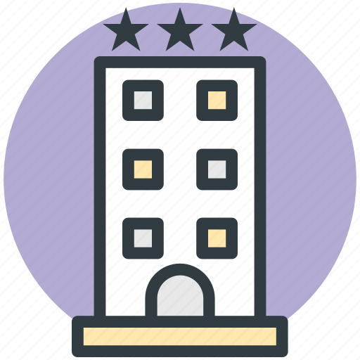 hotel, hotel building, lodge, luxury hotel, three star hotel icon
