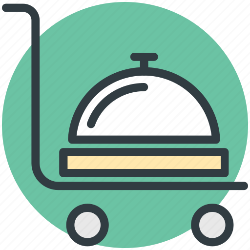 food service trolley, food trolley, hostess trolley, hotel trolley, room service icon
