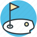golf, golf club, golf course, golf flag, golf hole flag icon