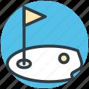 golf, golf club, golf course, golf flag, golf hole flag icon