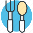 flatware, fork, silverware, spoon, utensil icon