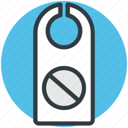do not disturb, door hangers, door label, doorknob hanger, hotel room icon