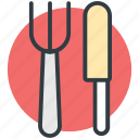flatware, fork, knife, silverware, utensil icon