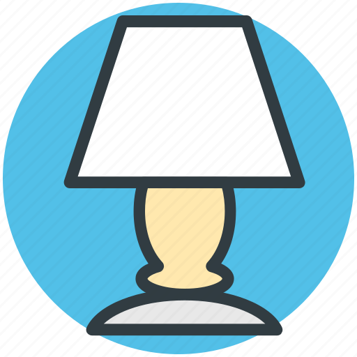 bedroom lamp, bedside lamp, lamp, room lamp, table lamp icon
