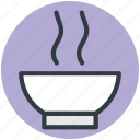 food, food bowl, hot food, hot soup, meal icon