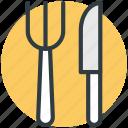 flatware, fork, knife, silverware, utensil