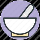 bowl grinder, herbal medication, medicine bowl, mortar, pestle icon