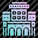 building, hostel, hotel, room, service icon