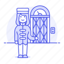 bellboy, bellhop, check, elevator, female, holiday, hotel, in, service, spa, trip, vacation icon