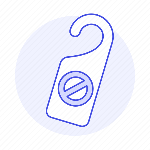 1, check, disturb, do, door, hanger, holiday, hotel, in, not, service, sign, spa, trip, vacation icon