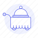 cart, check, dining, dome, domed, food, holiday, hotel, in, room, service, spa, tray, trip, vacation icon