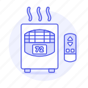 amenities, appliance, heater, holiday, home, hotel, rental, room, spa, space, trip, vacation icon