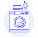 amenities, appliance, home, hotel, laundry, machine, rental, soap, spa, trip, vacation, washing icon