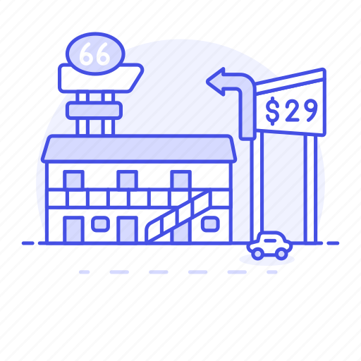 building, car, day, holiday, hostel, hotel, house, lodging, motel, road, spa, traveling, trip, vacation icon
