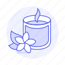 candle, chill, flower, holiday, hotel, meditation, relaxation, scented, spa, trip, vacation icon