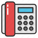 corded landline phone, landline phone, retro phone, telecommunication, telephone icon
