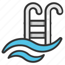 outdoor swimming, pool, swimming, swimming pool, swimming pool water icon