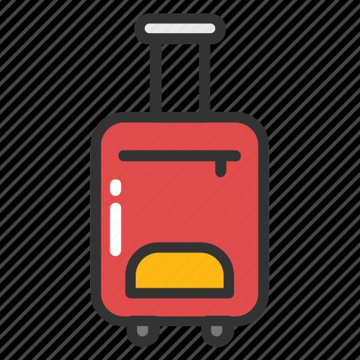 luggage, tourist bag, traveling bag, trolley bag, wheel bag icon