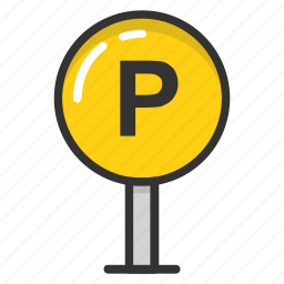 parking, parking area, parking sign, parking space, parking zone icon