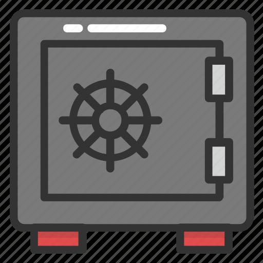 bank locker, bank safebox, bank vault, cash box, cash vault, safe deposit box, safebox icon