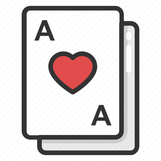 casino, heart card, play card, poker card, suit card icon