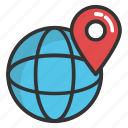 global navigation, global positioning system, globe and pointer, gps, gps navigation icon