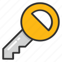 car key, door key, key, lock, locked icon