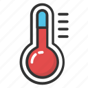 meteorological instrument, temperature gauge, thermometer, weather instrument, weather thermometer icon
