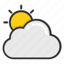 cloud sun, cloudy sun, sun behind the cloud, weather, weather forecast icon