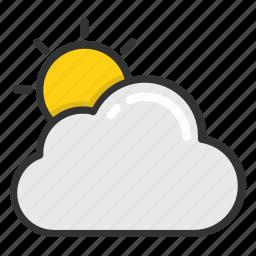 cloud sun, cloudy sun, sun behind the cloud, weather, weather forecast icon