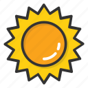 morning, summer, sun, sunlight, sunny day icon