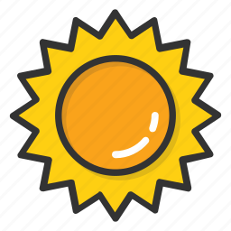 morning, summer, sun, sunlight, sunny day icon