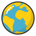 earth, globe, orbit, sphere, world icon
