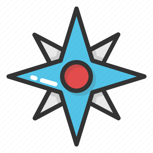 compass, compass rose, flower compass, navigation, windrose icon