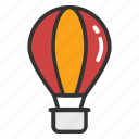 air balloon, fire balloon, hot air balloon, parachute balloon, weather balloon icon