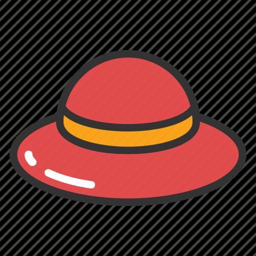 Brimmed sun cap, fashion sun hat, floppy summer hat, stylish summer hat, sun hat icon - Download on Iconfinder