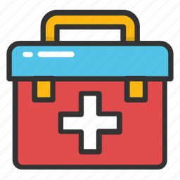 doctor bag, emergency kit, first aid bag, first aid kit, medical kit icon