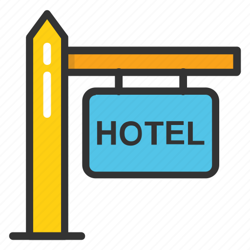 advertising signboard, hotel, hotel info, hotel sign, hotel signboard icon