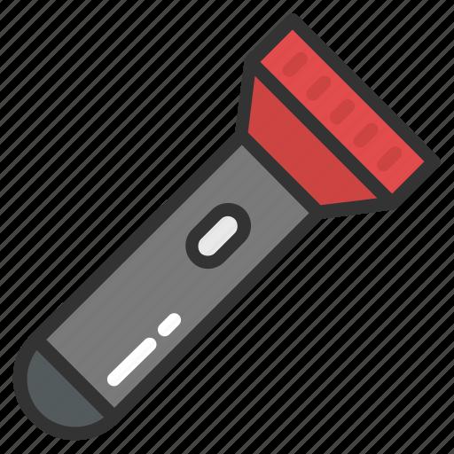 electric torch, flashlight, pocket flashlight, pocket torch, torch icon
