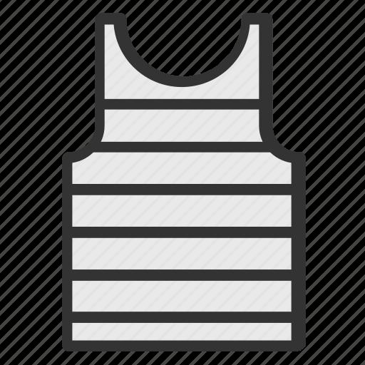 horizontal striped tank top, striped undershirt, striped vest, summer striped sleeveless vest, summer striped vest icon