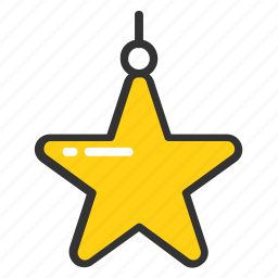christmas decoration, decorative hanging star, gift and decor, hanging star, star pendant icon