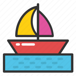 boat, sailboat, sailing boat, vessel, yacht icon