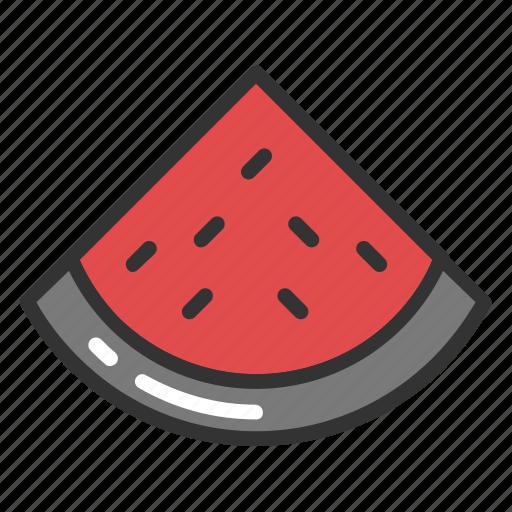 fruit, juicy fruit, organic food, watermelon, watermelon slice icon