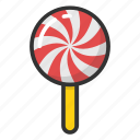 lollipop, lolly, rainbow lolly, spiral lolly, swirl lolly icon